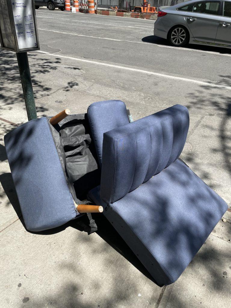 Trash is art in New York City.