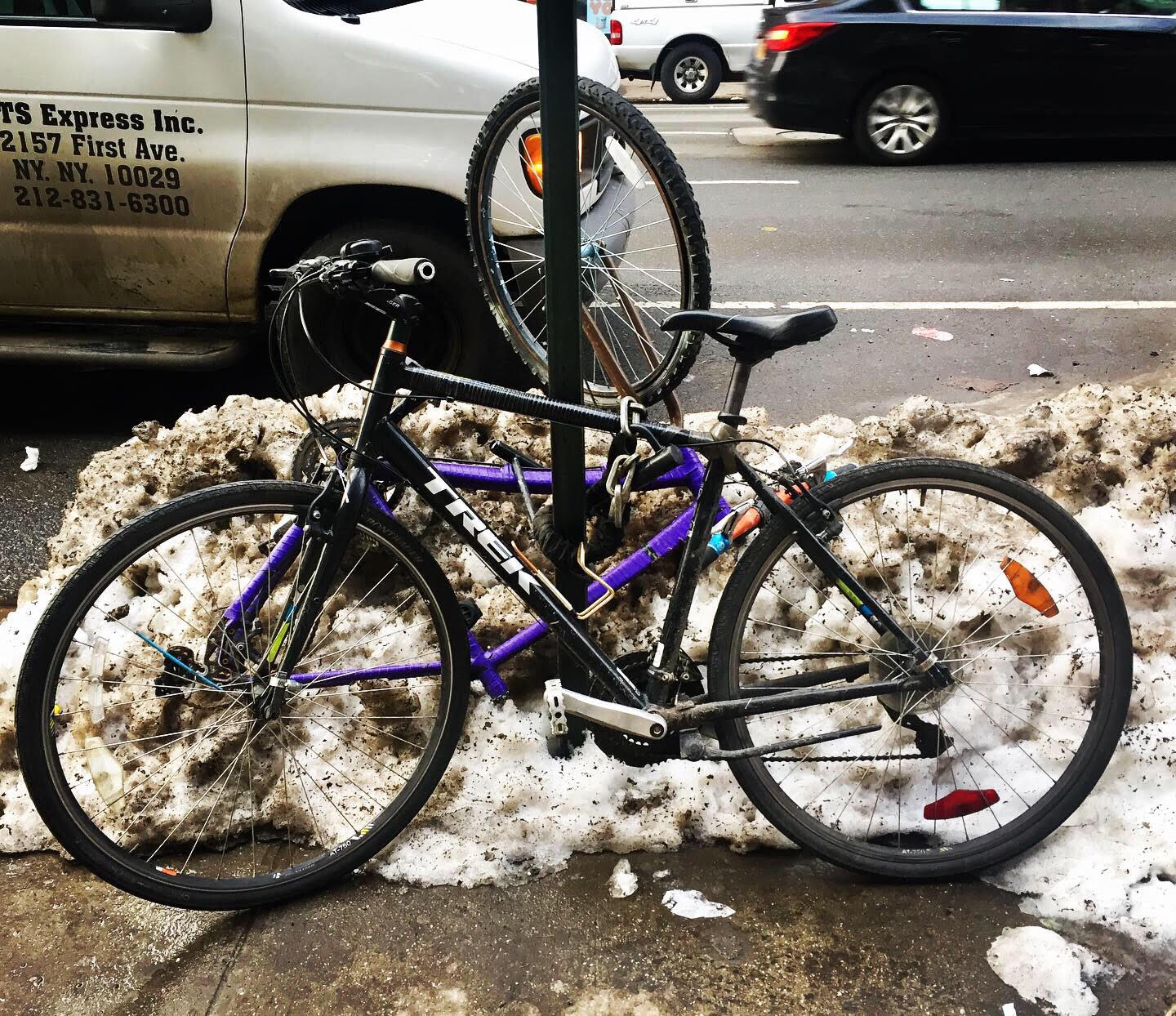 New York City bikes after the snow.