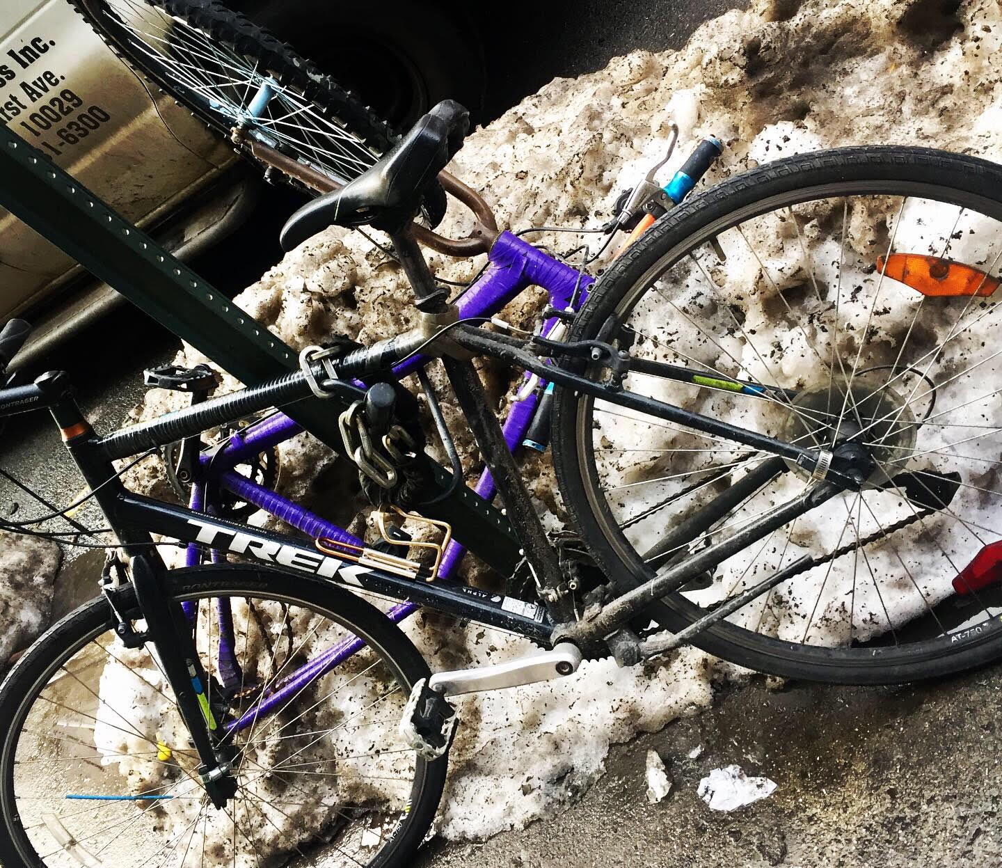 New York City bike after the snow.